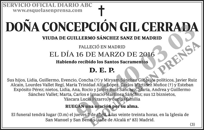 Concepción Gil Cerrada